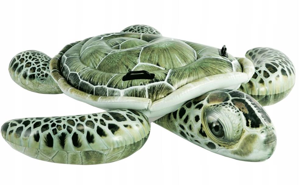 Materac dmuchany do pływania żółw INTEX 57555